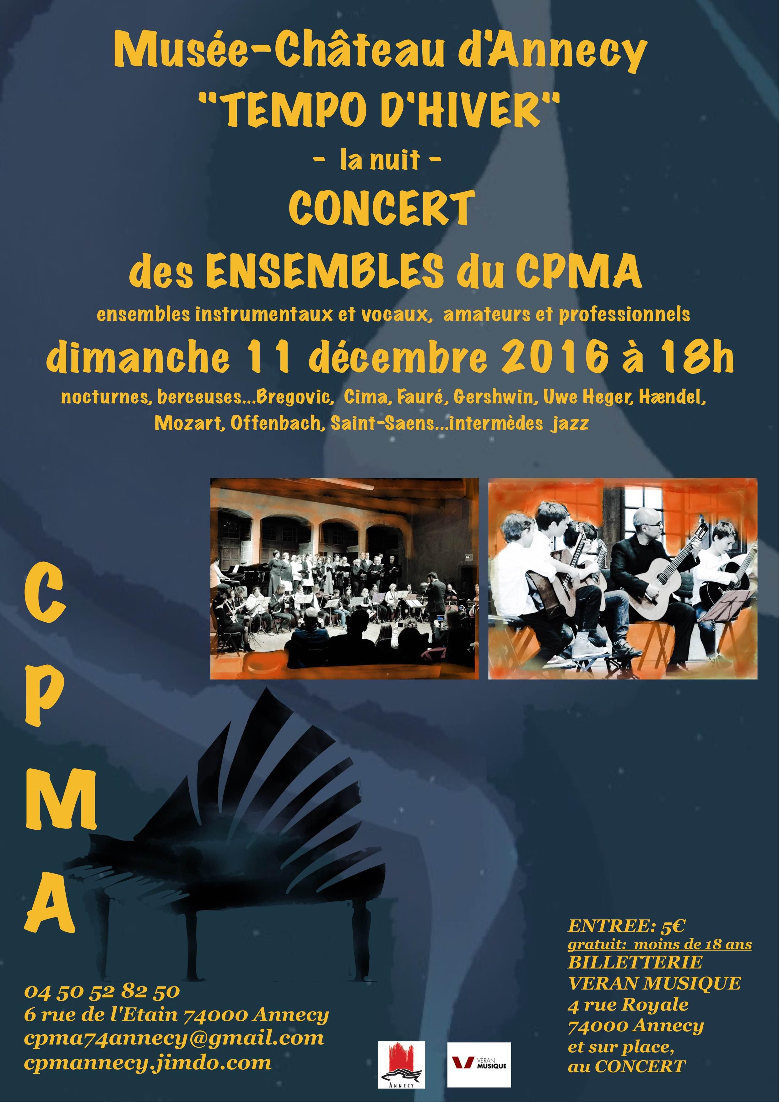 Concert des ensembles du CPMA